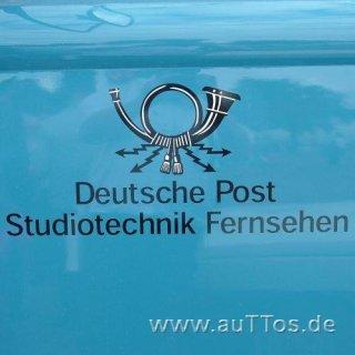 """Decalsatz """"Deutsche Post - Studiotechnik Fernsehen"""" (4 Stk.)"""