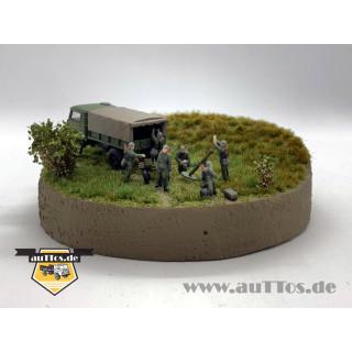 Figuren-Set Bedienmannschaft Granatwerfer NVA, Gefechtsstellung