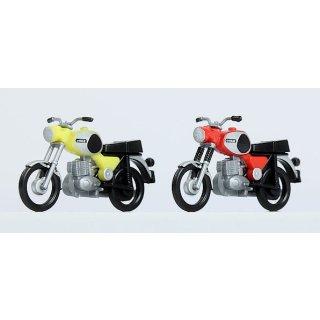 Komplettmodelle 2xMZ TS250 (rot und gelb)