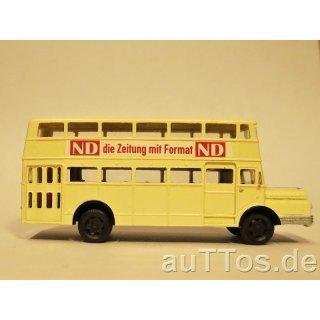 """Decal-Satz Buswerbung Do54 """"ND die Zeitung mit Format"""", Epoche III"""