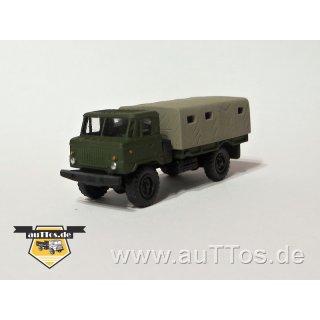 GAZ-66 Pritsche/Plane - Plane hellbraun, FH militärgrün